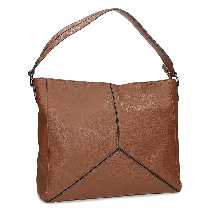 Brązowa torebka damska wstylu hobo bata, brązowy, 961-3922 - 13