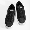 Czarne błyszczące trampki dziecięce na platformie puma, czarny, 401-6392 - 16
