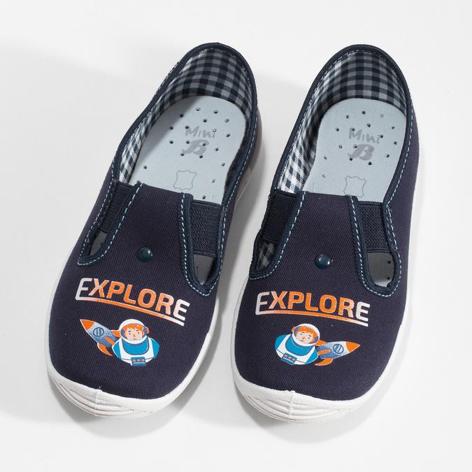 Kapcie dziecięce zwizerunkiem rakiety mini-b, niebieski, 379-9219 - 16