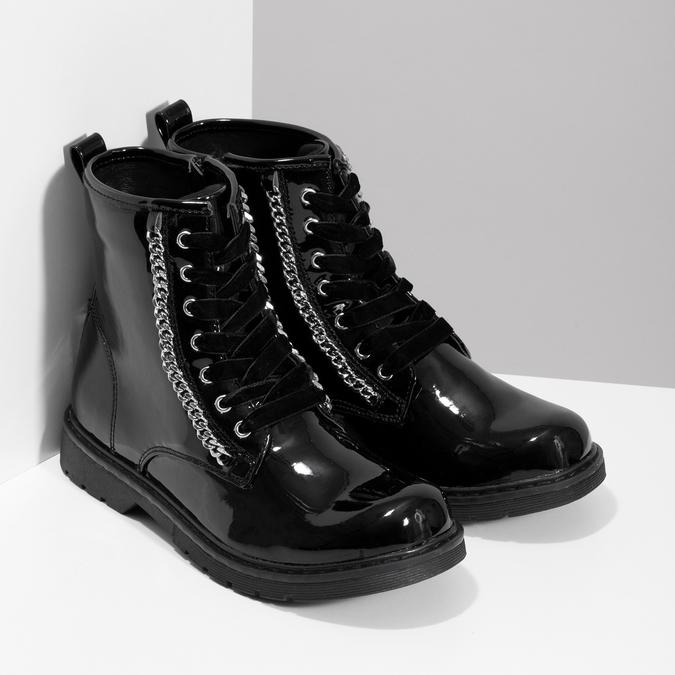 Zimowe błyszczące botki dziewczęce mini-b, czarny, 391-6170 - 26