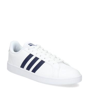 Białe nieformalne trampki męskie adidas, biały, niebieski, 801-9378 - 13