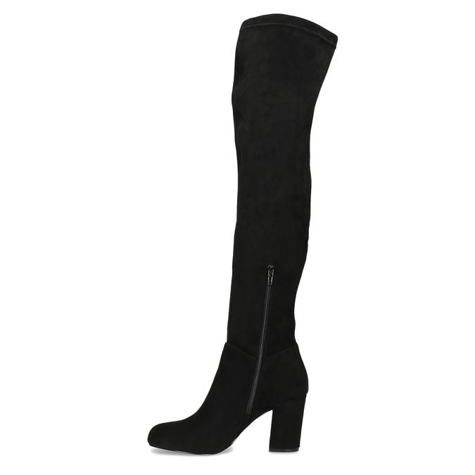 Czarne kozaki damskie za kolana bata, czarny, 799-6638 - 17