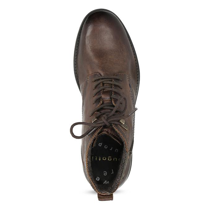 Sznurowane obuwie męskie za kostkę bugatti, brązowy, 826-4056 - 17