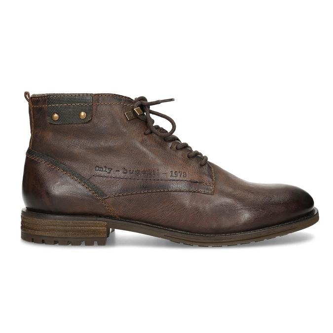 Sznurowane obuwie męskie za kostkę bugatti, brązowy, 826-4056 - 19