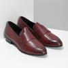 Bordowe skórzane mokasyny damskie bata, czerwony, 514-5601 - 26