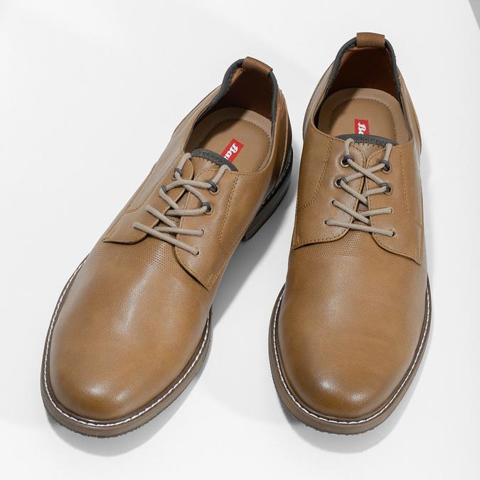 Jasnobrązowe półbuty męskie bata-red-label, brązowy, 821-3609 - 16