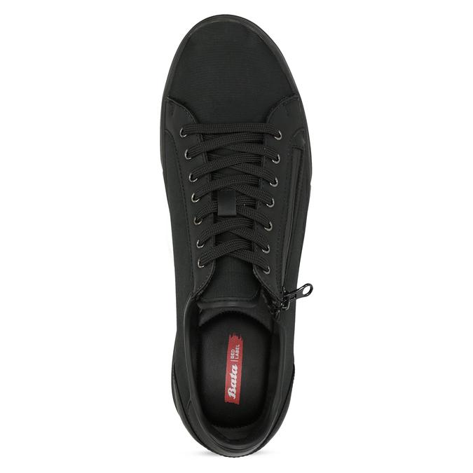 Męskie tenisówki czarne na suwak bata-red-label, czarny, 841-6622 - 17