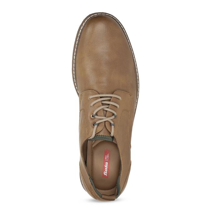 Jasnobrązowe półbuty męskie bata-red-label, brązowy, 821-3609 - 17