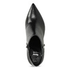 Skórzane botki zmetalową aplikacją bata, czarny, 796-6659 - 17
