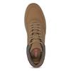 Męskie tenisówki do kostek brązowe bata-red-label, brązowy, 841-3626 - 17