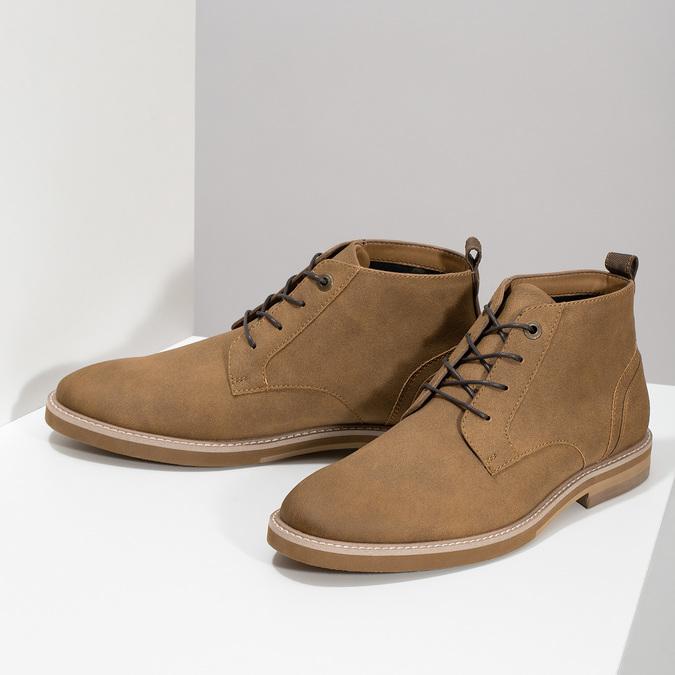 Beżowe obuwie męskie za kostkę bata-red-label, brązowy, 821-3608 - 16