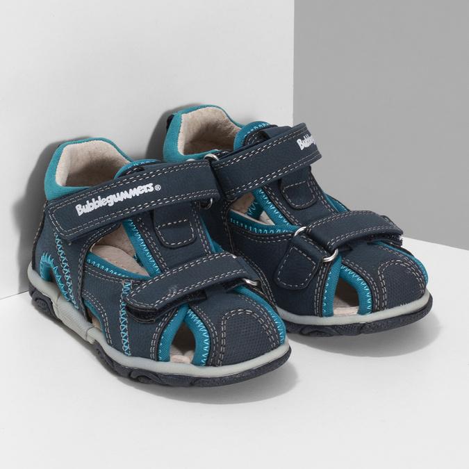 Granatowe zimowe obuwie dziecięce zociepliną, niebieski, 191-9616 - 26