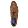 Brązowe skórzane półbuty męskie bugatti, brązowy, 826-3078 - 17