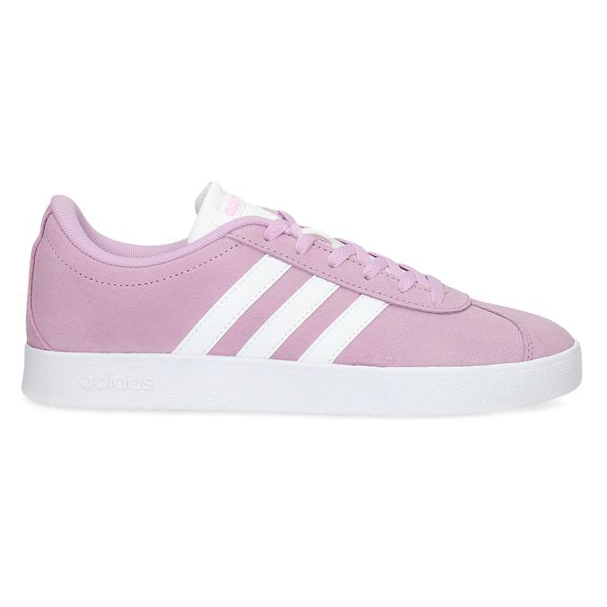 Różowe skórzane trampki dziecięce adidas, różowy, 403-5361 - 19