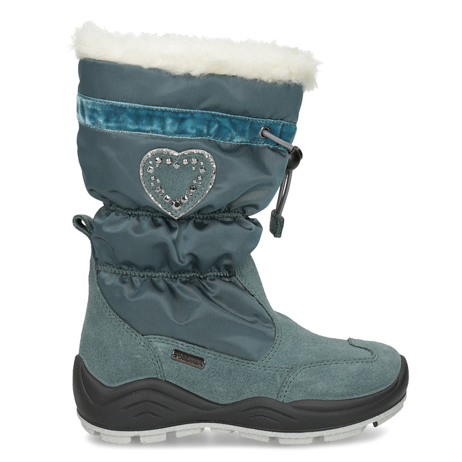 Śniegowce dziewczęce zkryształkami mini-b, niebieski, 399-7658 - 19