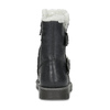 Niskie skórzane kozaki dziewczęce zfuterkiem mini-b, czarny, 396-6601 - 15