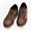 Brązowe skórzane trampki męskie bata, brązowy, 846-4714 - 16