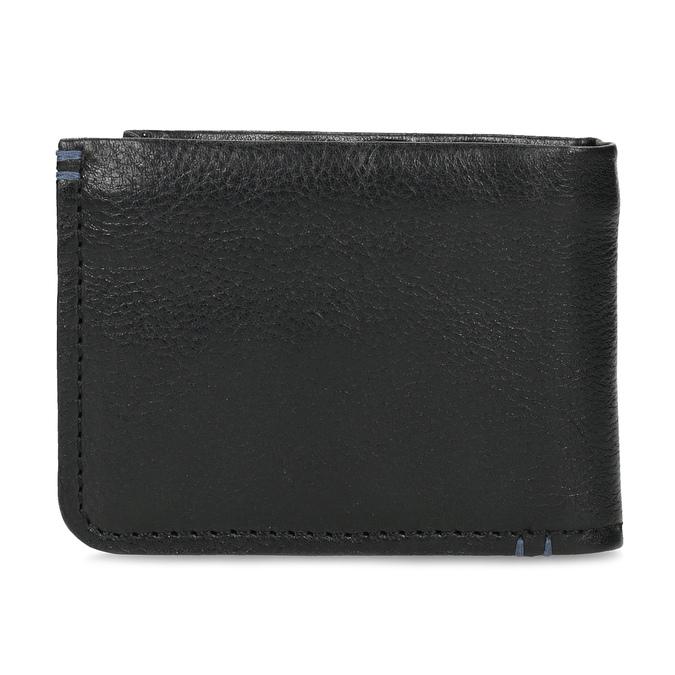 Skórzany portfel męski zobszyciem bata, czarny, 944-6214 - 16
