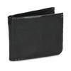 Skórzany portfel męski zobszyciem bata, czarny, 944-6214 - 13