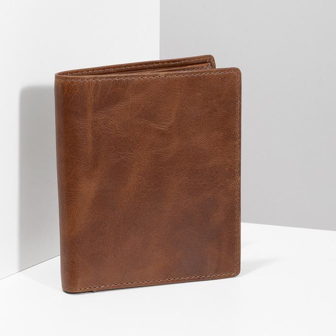 Brązowy skórzany portfel męski bata, brązowy, 944-3217 - 17