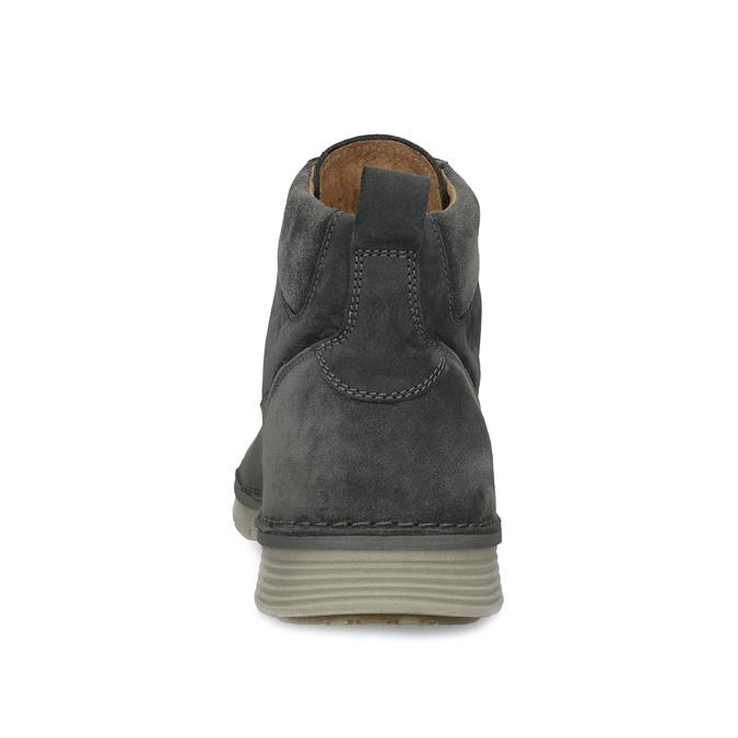 Skórzane obuwie męskie za kostkę, zprzeszyciami weinbrenner, szary, 846-6719 - 15