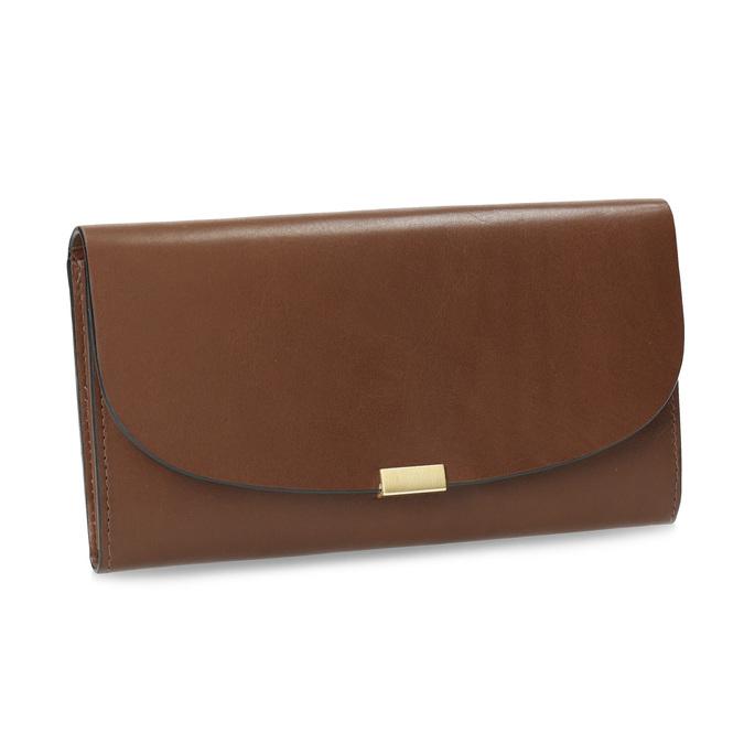 Brązowy skórzany portfel damski bata, brązowy, 944-3228 - 13
