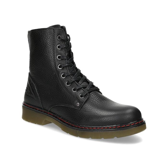 Czarne skórzane obuwie damskie typu chelsea bata, czarny, 596-6732 - 13