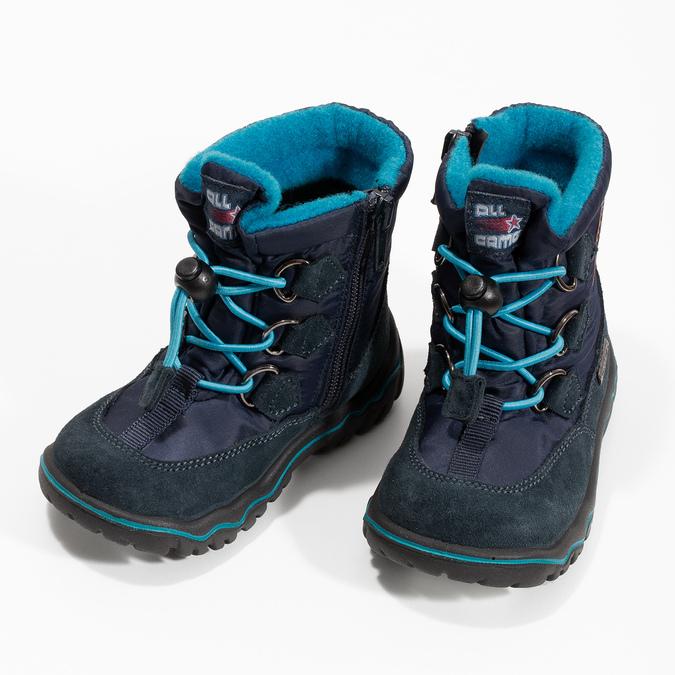 Granatowe zimowe obuwie dziecięce, niebieski, 199-9604 - 16