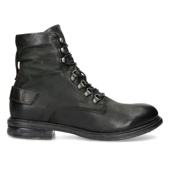 Czarne skórzane trzewiki męskie bata, czarny, 896-6743 - 19