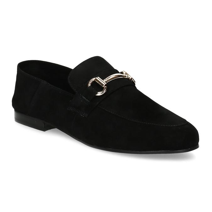 Czarne zamszowe loafersy damskie steve-madden, czarny, 513-6026 - 13