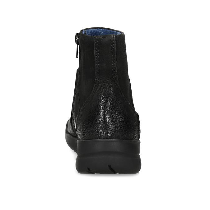 Skórzane botki damskie bata, czarny, 596-6706 - 15