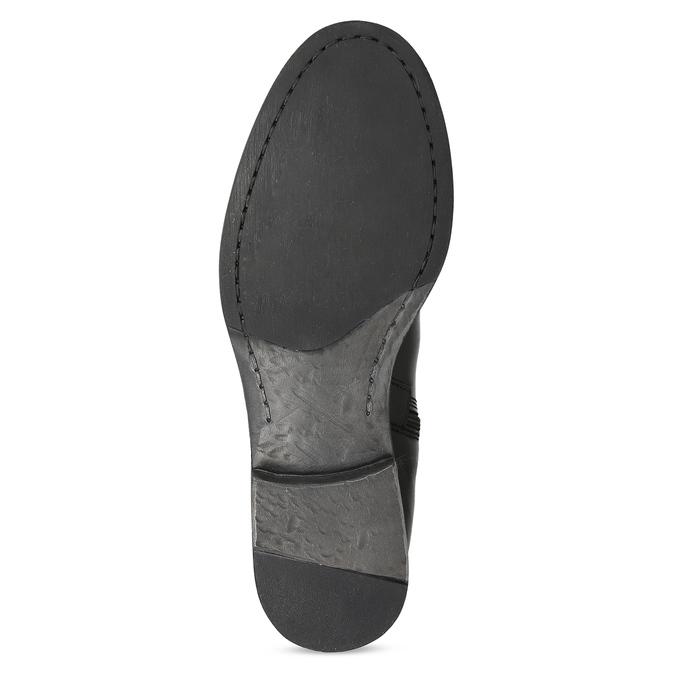 Czarne skórzane kozaki zklamrami bata, czarny, 594-6678 - 18