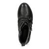 Czarne skórzane kozaki zmetalowymi ćwiekami steve-madden, czarny, 514-6025 - 17