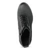 Skórzane sznurowane botki damskie bata, czarny, 796-6653 - 17
