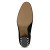 Skórzane botki damskie zćwiekami bata, czarny, 723-6661 - 18
