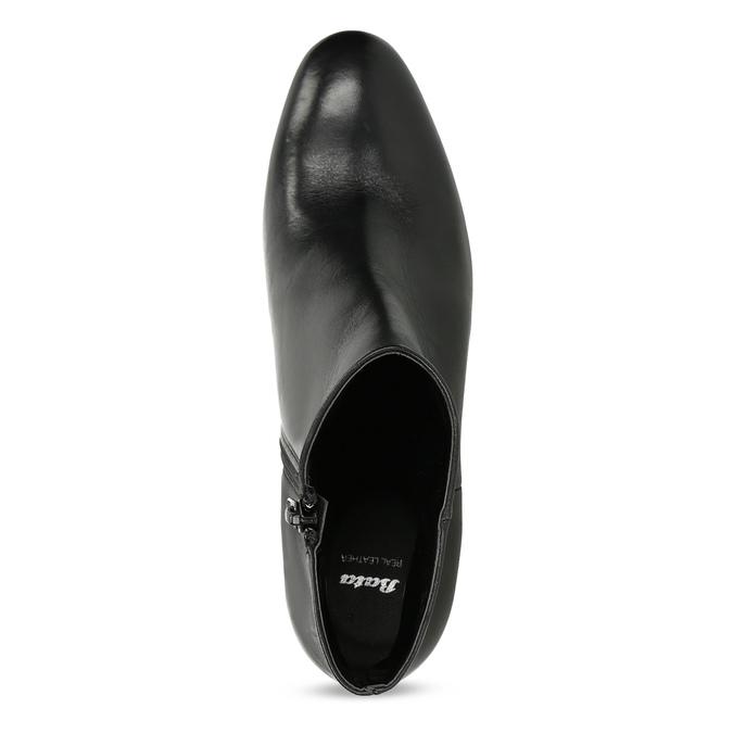 Skórzane botki na stabilnych obcasach bata, czarny, 796-6654 - 17