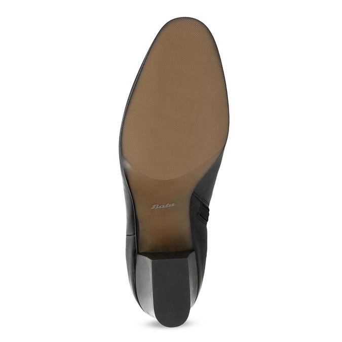 Skórzane botki na stabilnych obcasach bata, czarny, 796-6654 - 18