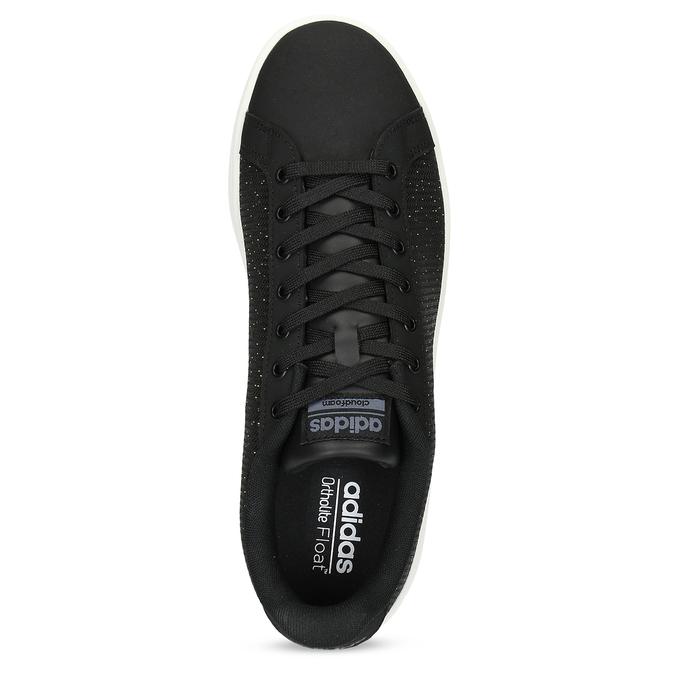 Czarne trampki męskie wdeseń adidas, czarny, 809-6104 - 17