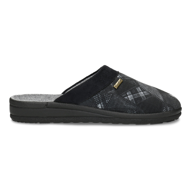 Czarne kapcie męskie bata, czarny, 879-6619 - 19