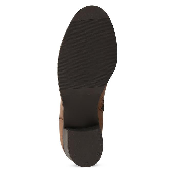 Brązowe skórzane kozaki damskie bata, brązowy, 694-4668 - 18