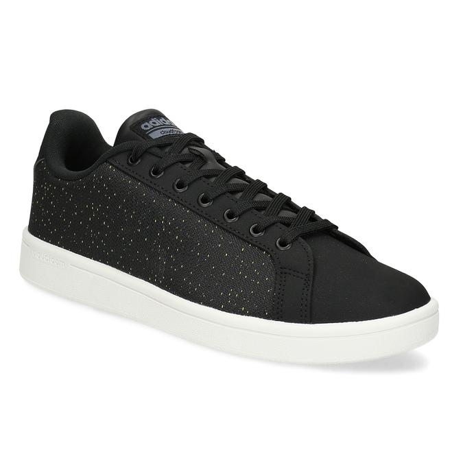 Czarne trampki męskie wdeseń adidas, czarny, 809-6104 - 13