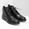 Czarne skórzane obuwie męskie za kostkę bata, czarny, 894-6721 - 26