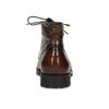 Brązowe błyszczące obuwie męskie za kostkę bata, brązowy, 896-3720 - 15