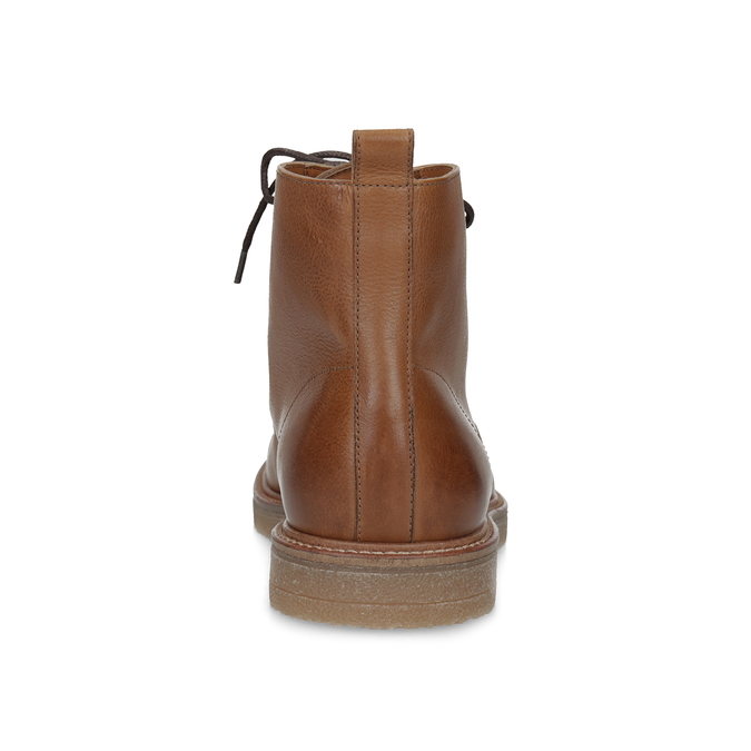 Brązowe skórzane obuwie męskie za kostkę bata, brązowy, 896-3721 - 15