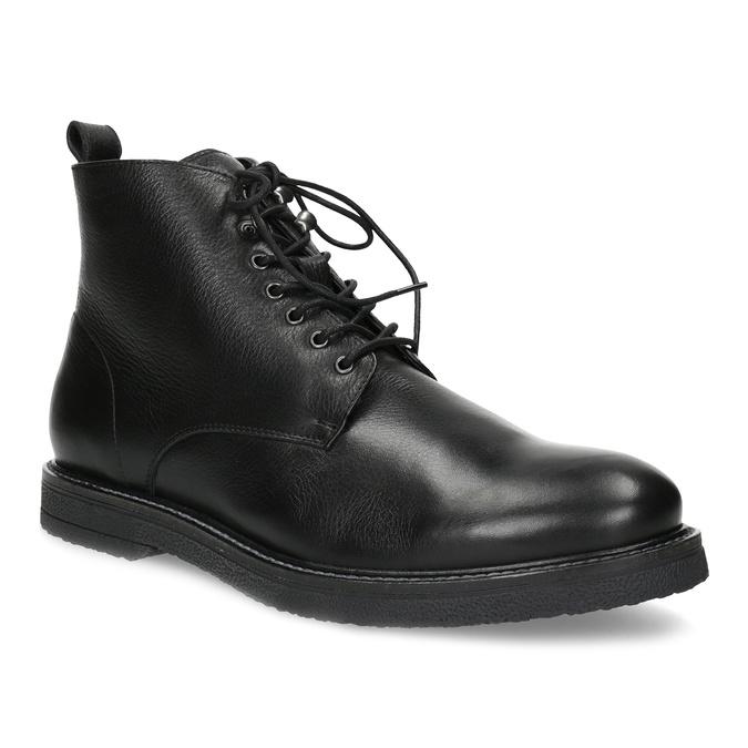 Czarne skórzane obuwie męskie za kostkę bata, czarny, 894-6721 - 13