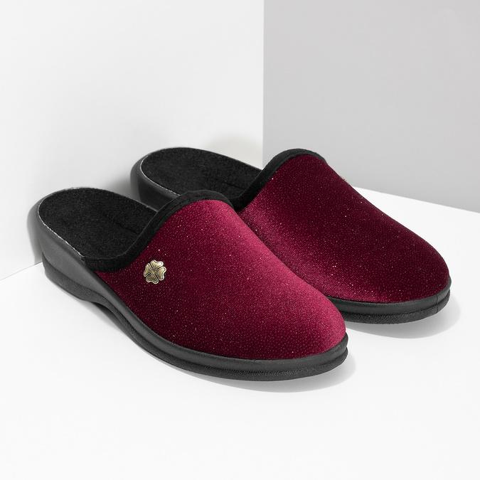 Czerwone kapcie damskie bata, czerwony, 579-5631 - 26