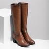 Brązowe skórzane kozaki damskie bata, brązowy, 694-4668 - 26