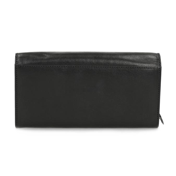 Czarny skórzany portfel damski bata, czarny, 944-6216 - 16
