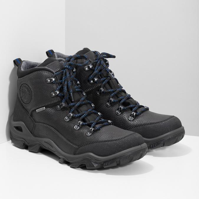 Skórzane obuwie męskie wstylu outdoor weinbrenner, czarny, 896-6706 - 26