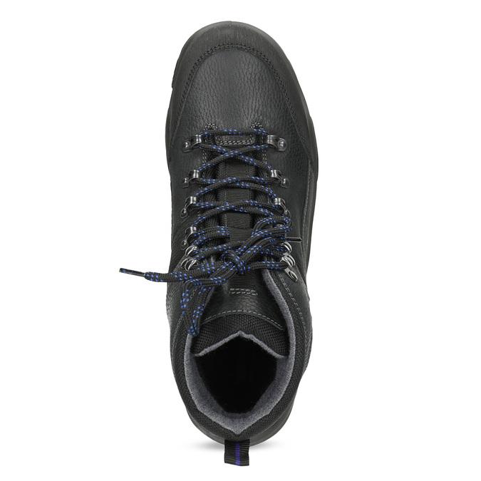 Skórzane obuwie męskie wstylu outdoor weinbrenner, czarny, 896-6706 - 17